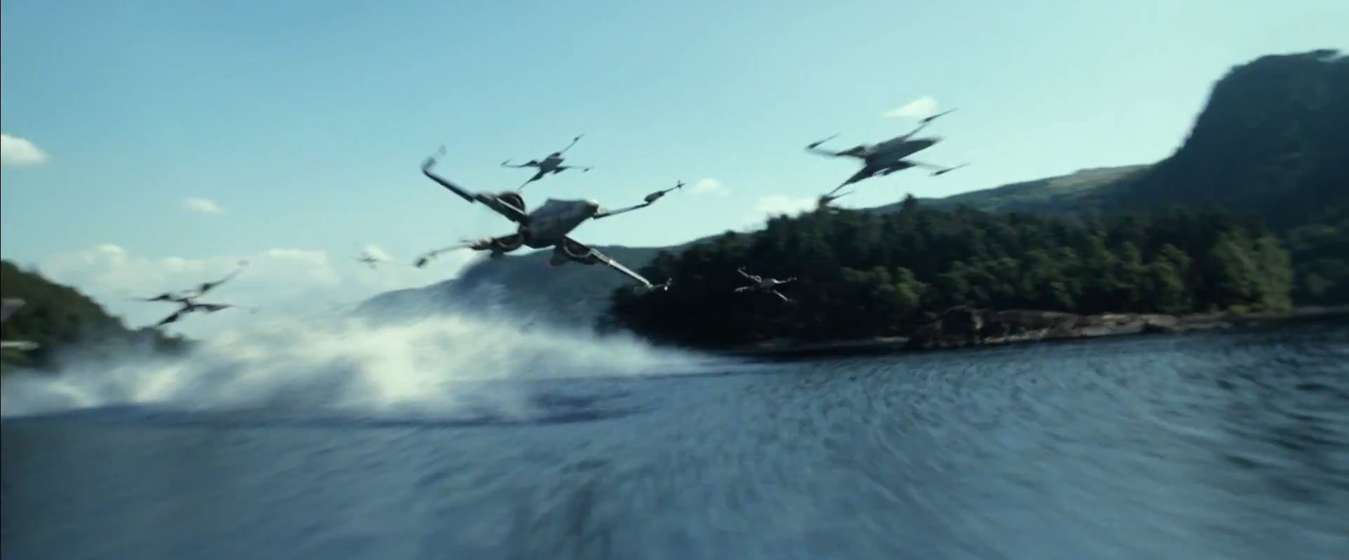 X-wings over water
