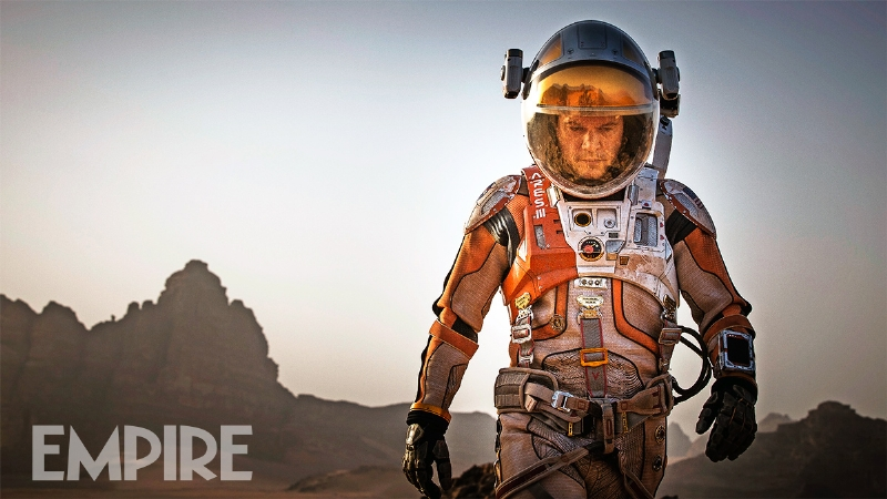 The Martian first on-set pictures. Matt Damon as Mark Watney