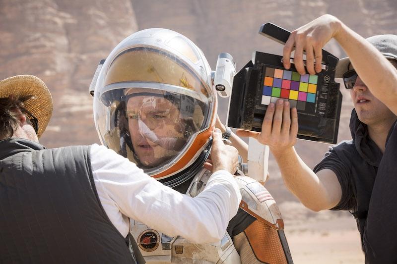 The Martian first on-set pictures. Matt Damon on set