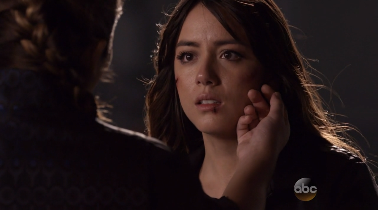 Chloe Bennet as Skye confronts her mother. Agents Of SHIELD Season 2 Finale Review.