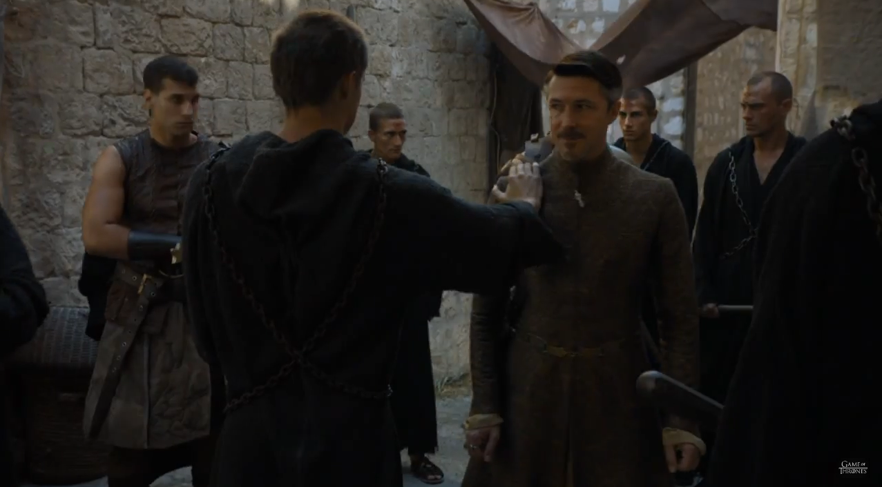 Game of Thrones S5Ep6 Petyr and Lancel