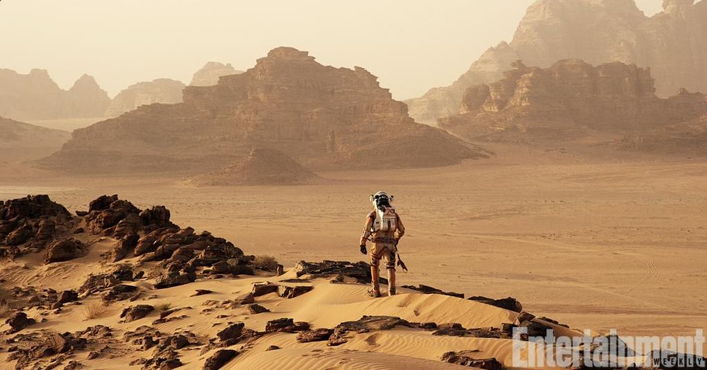 Ridley Scott's The Martian first on-set pictures released. Jordan Wadi Rum as Mars.