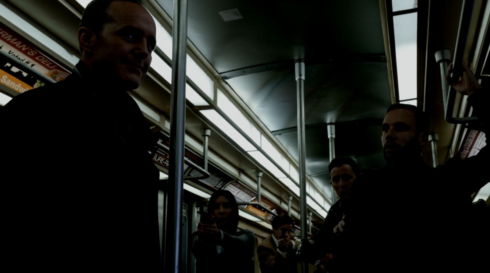 Coulson and Hunter trapped by ACTU. Agents of SHIELD S3Ep1 Laws of Nature Review