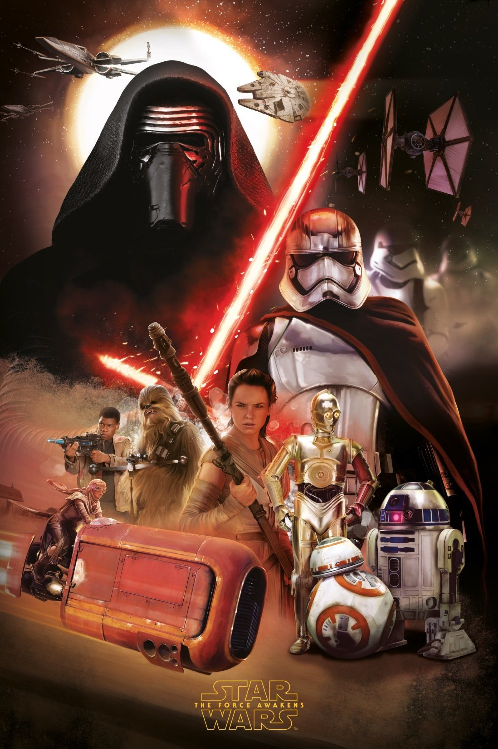 Star Wars The Force Awakens official Poster high resolution