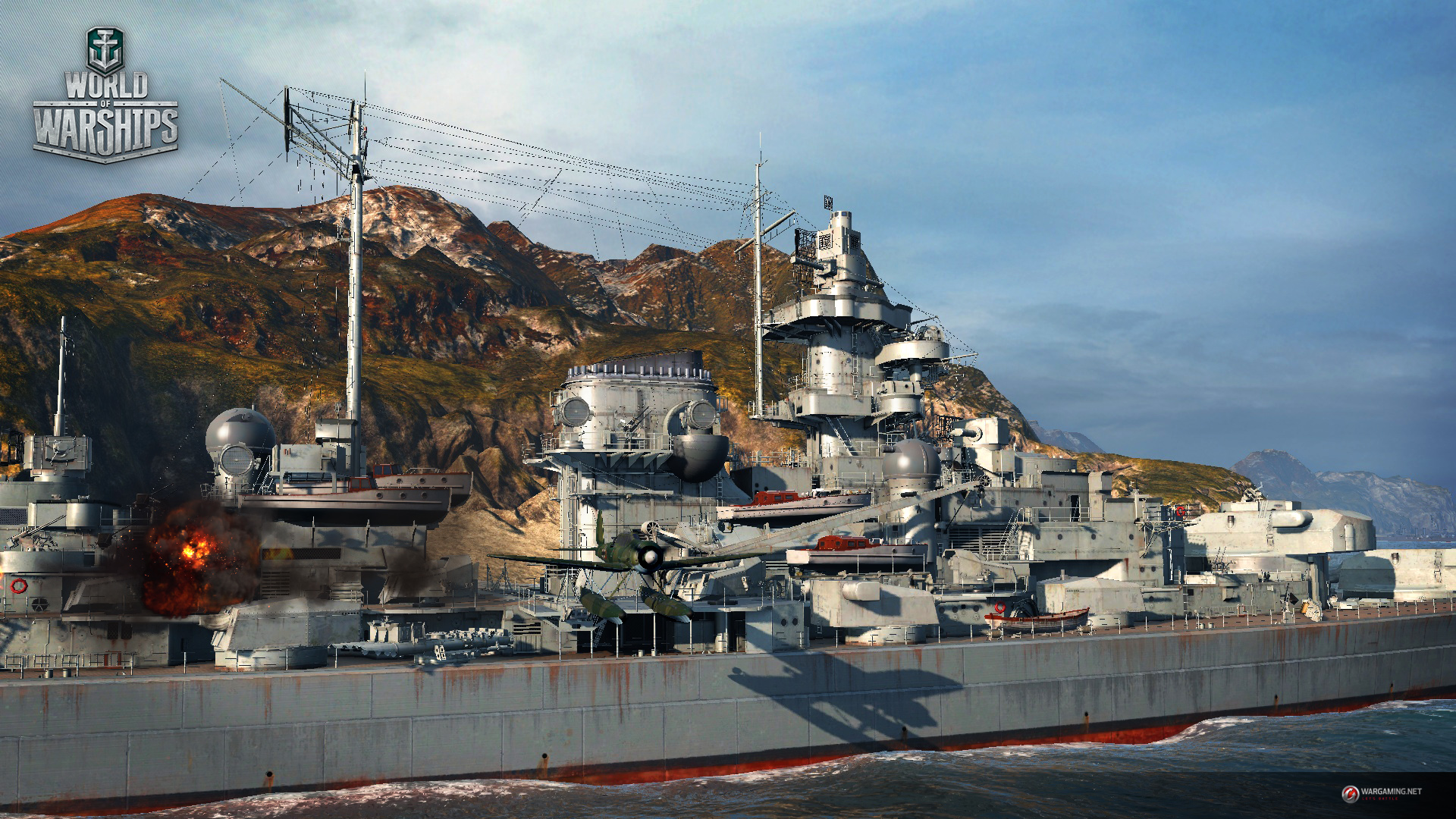 World Of Warships Review. Tirpitz high-res close-up.