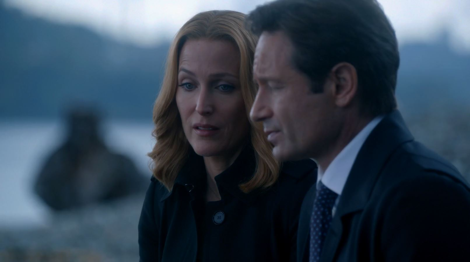 Scully and Mulder talk about William. X-Files S10E04 Home Again Review