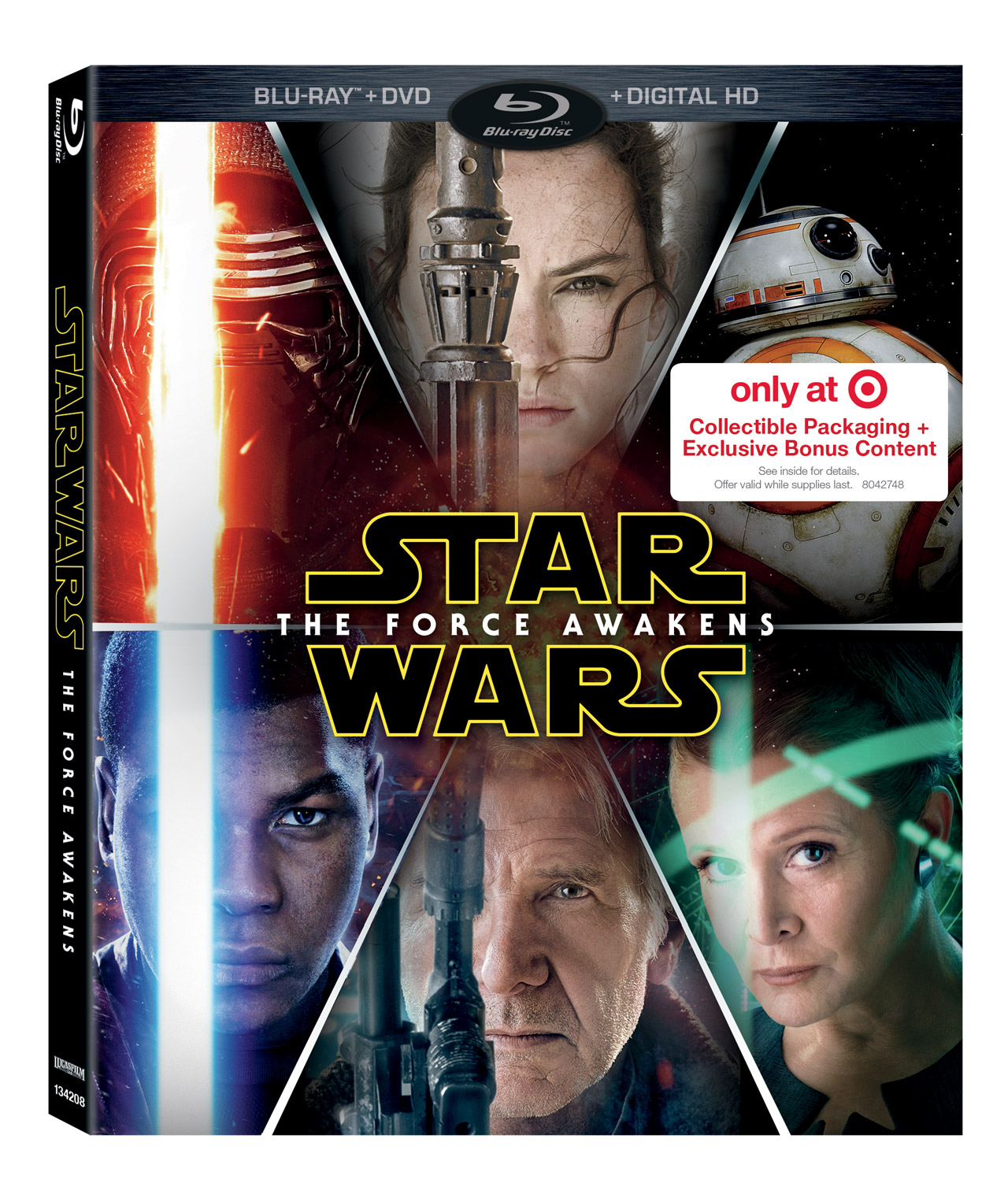 The Force Awakens combo release Target. Force Awakens Blu-Ray release set for early April