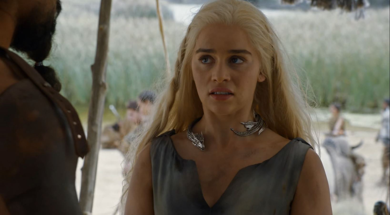 Dany meets Khal Moro. Game Of Thrones S6Ep1 The Red Woman Review