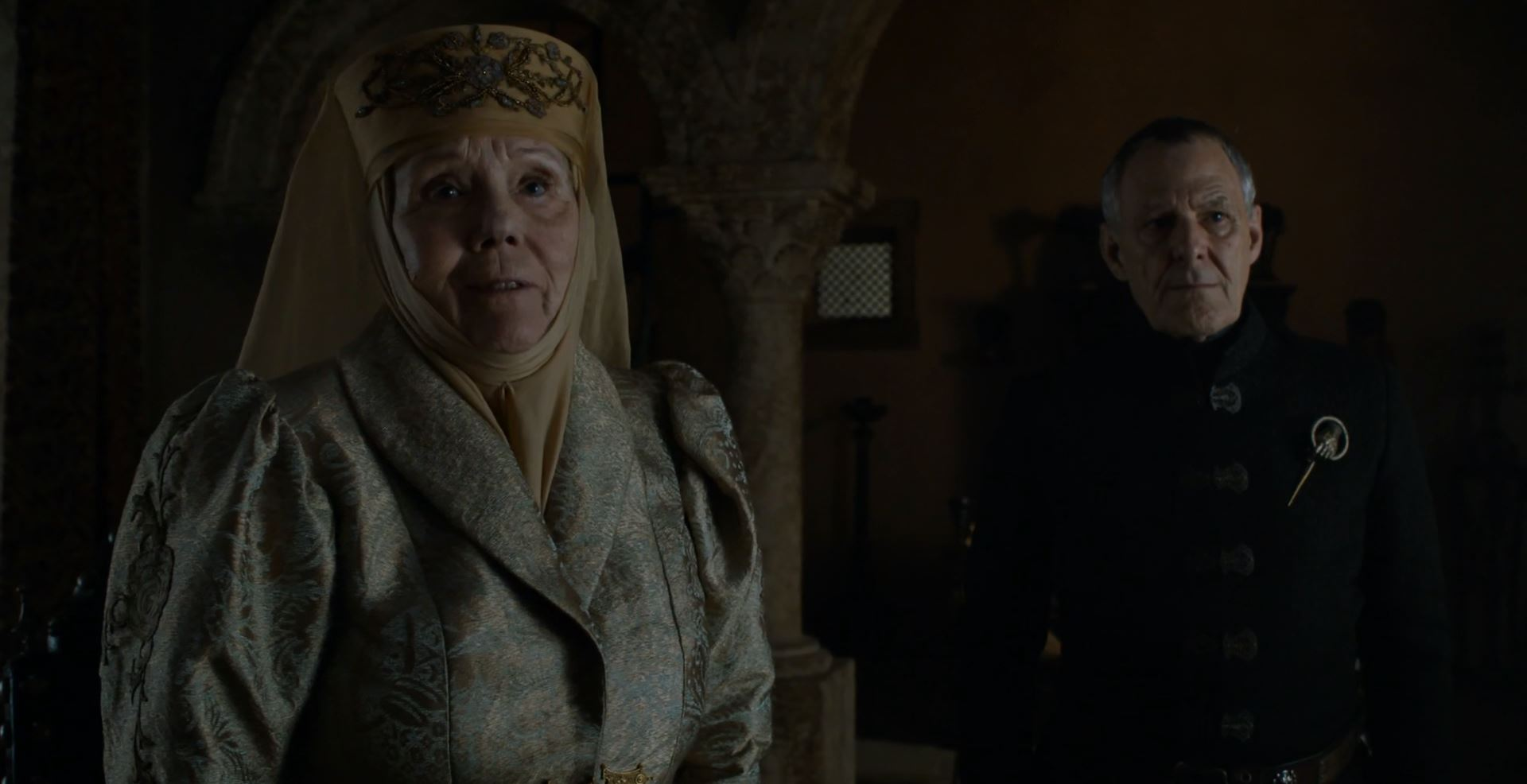 Lady Olenna and Kevan. Game Of Thrones S6Ep4 Book of the Stranger Review