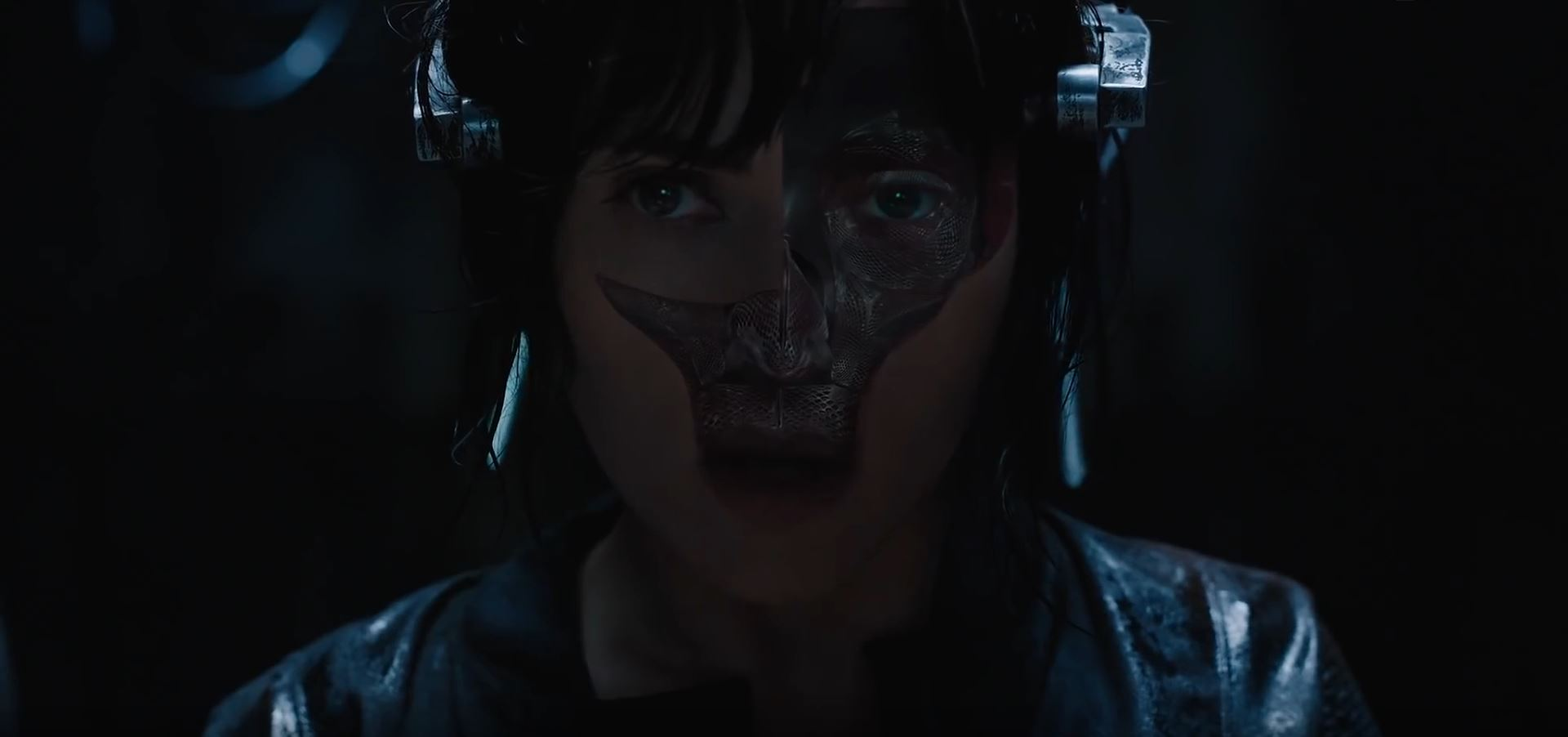 Ghost in the Shell - Major with her face removed - Super Bowl Trailers