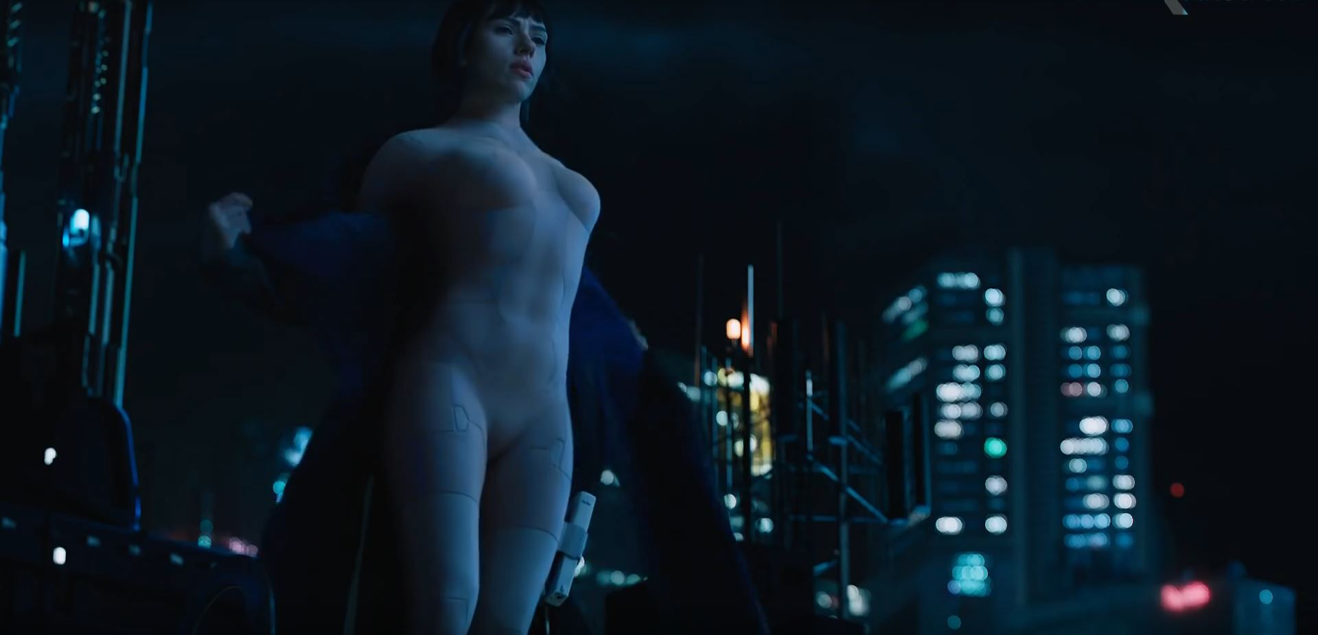 Scarlett Johansson sexy as The Major - Ghost In The Shell - Super Bowl Trailers