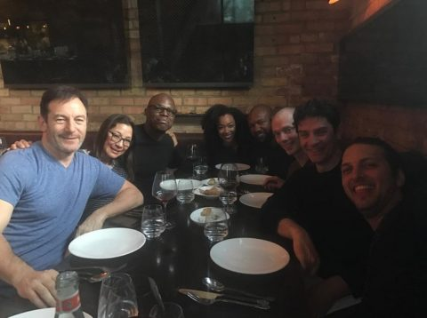 Discovery cast - James Frain party