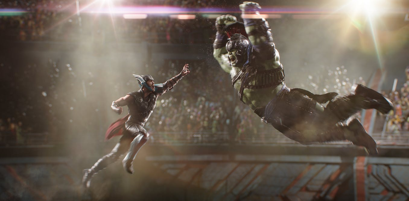Thor Ragnarok - Thor fights The Hulk