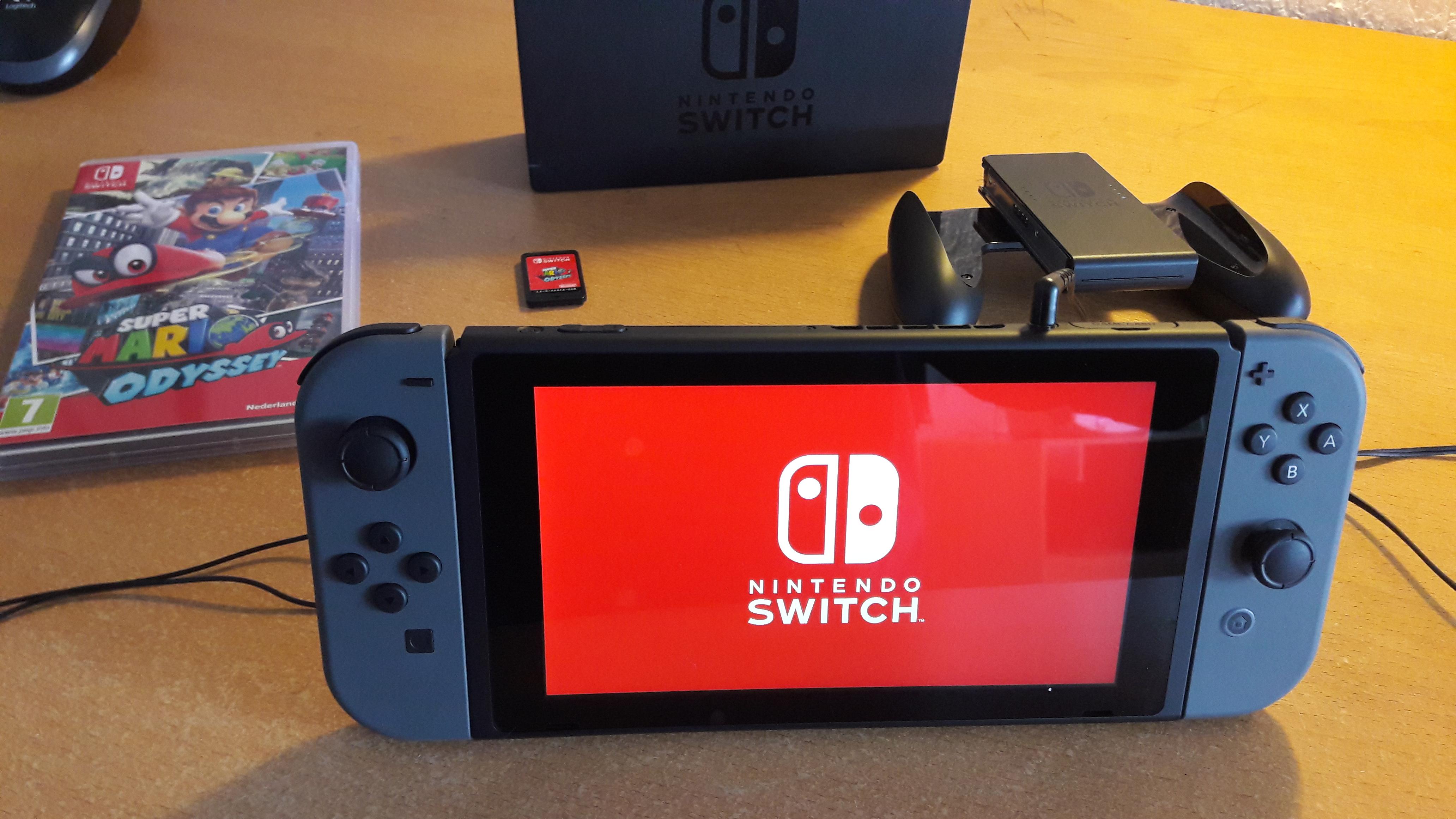 Nintendo Switch red starup screen