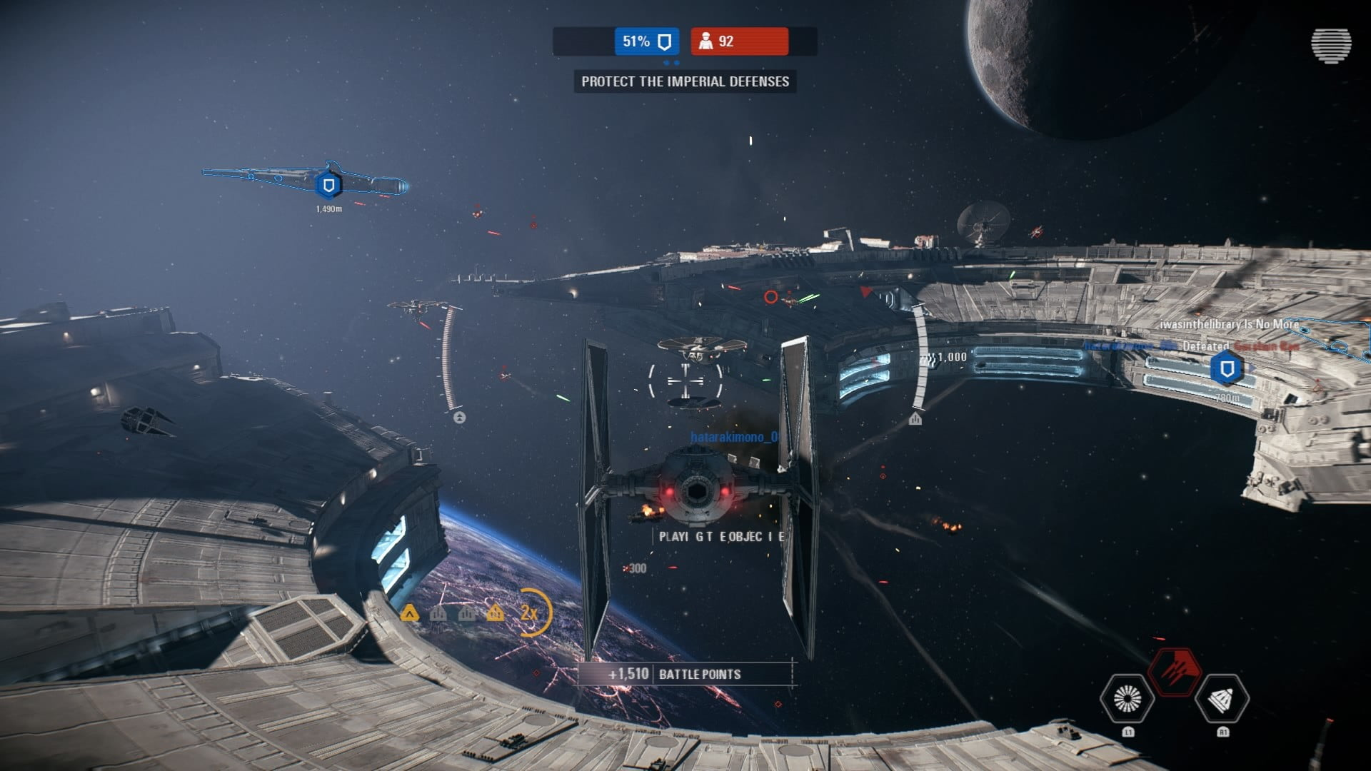 Battlefront-2 Tie-fighter