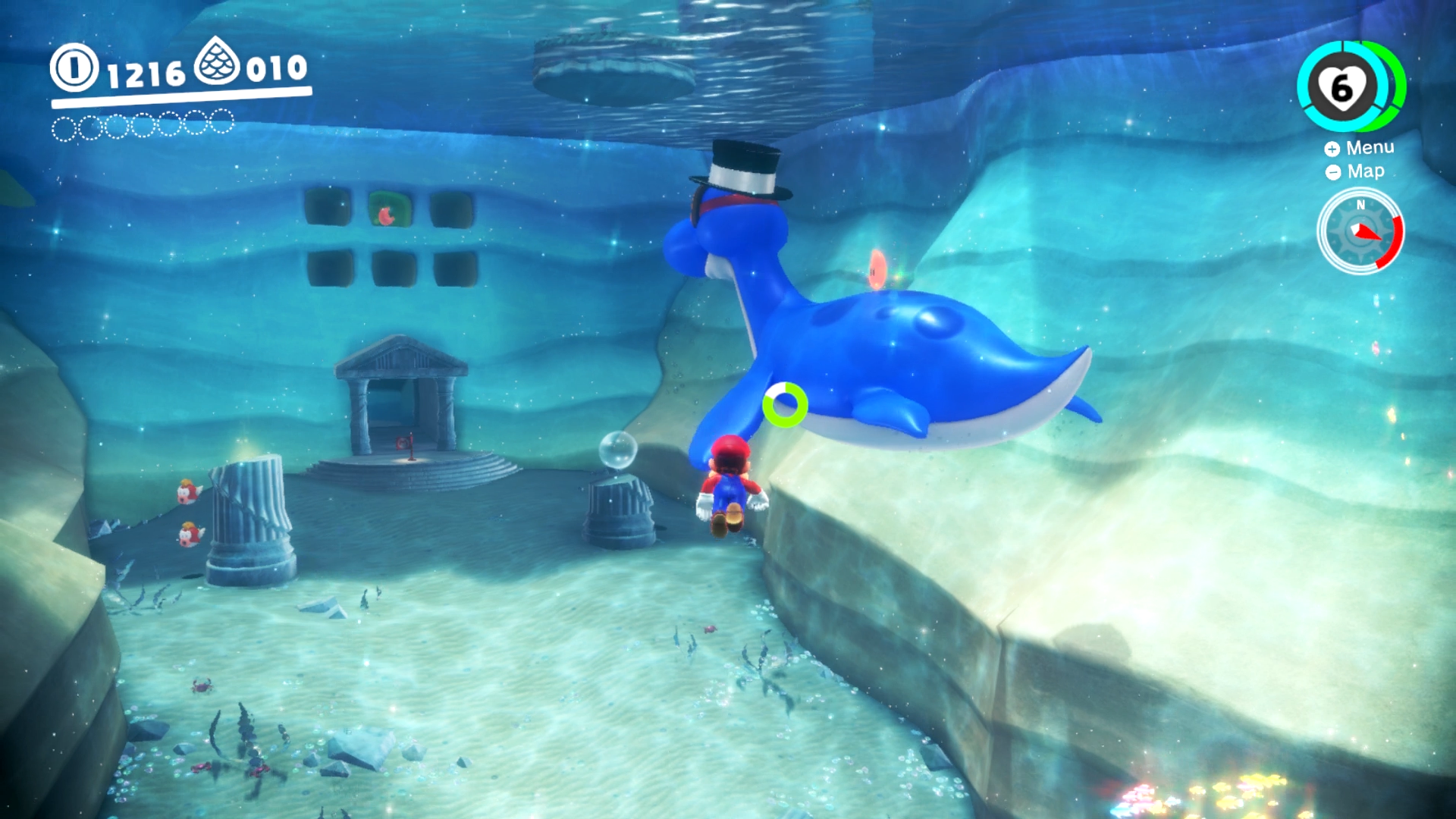 Super Mario Odyssey - Diving underwater
