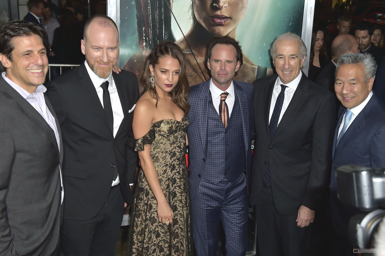 Alicia Vikander at Tomb Raider premiere