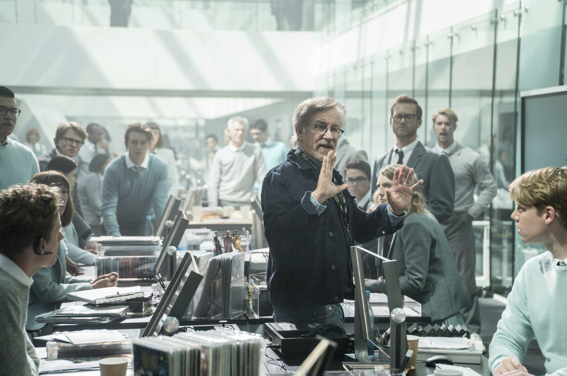 Ready Player One Review - Steven Spielberg on set