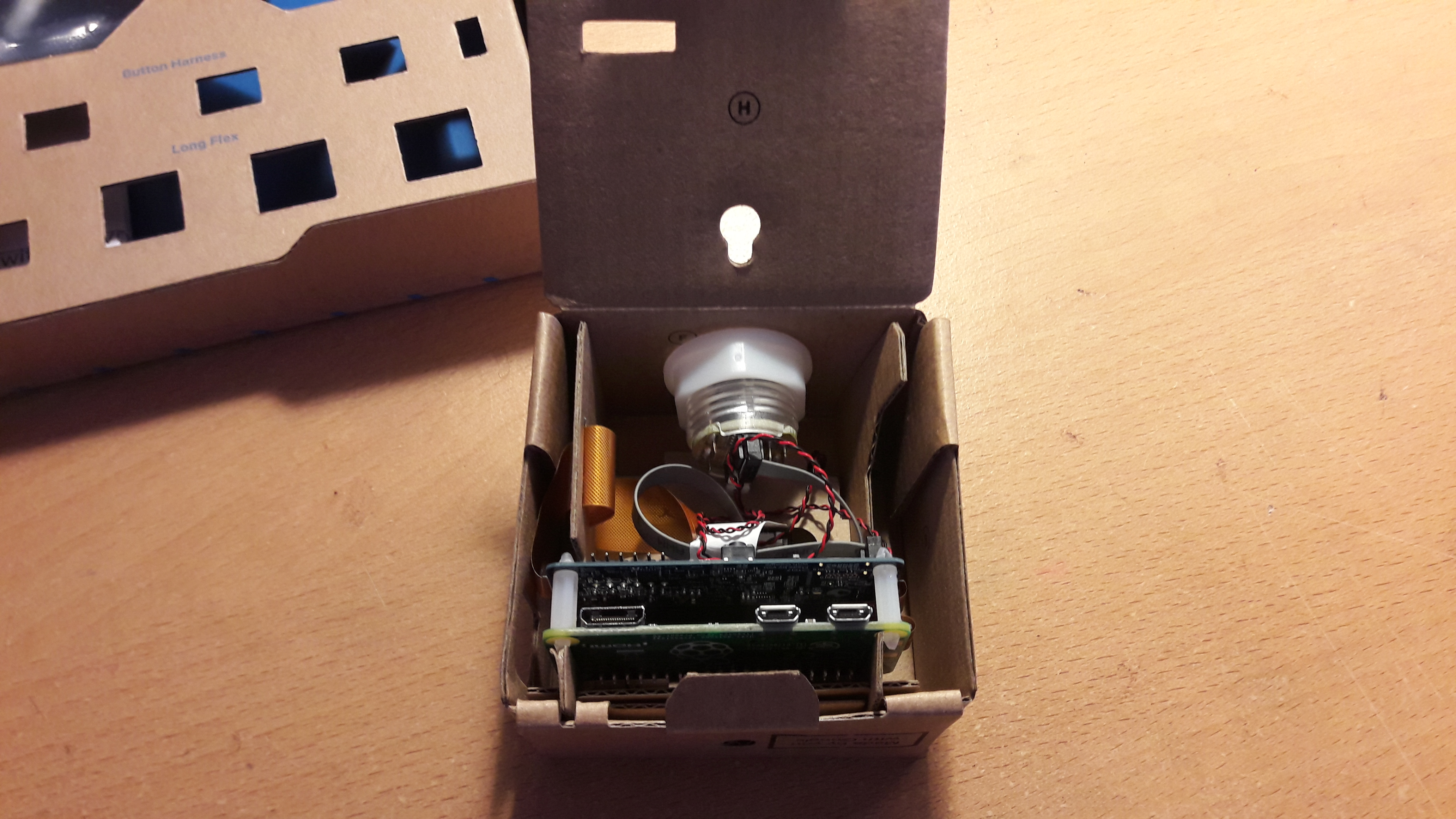 Vision Kit with cover unfolded