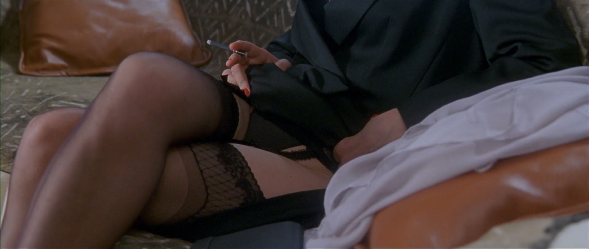 Lena Olin wearing garter and stockings - The Ninth Gate