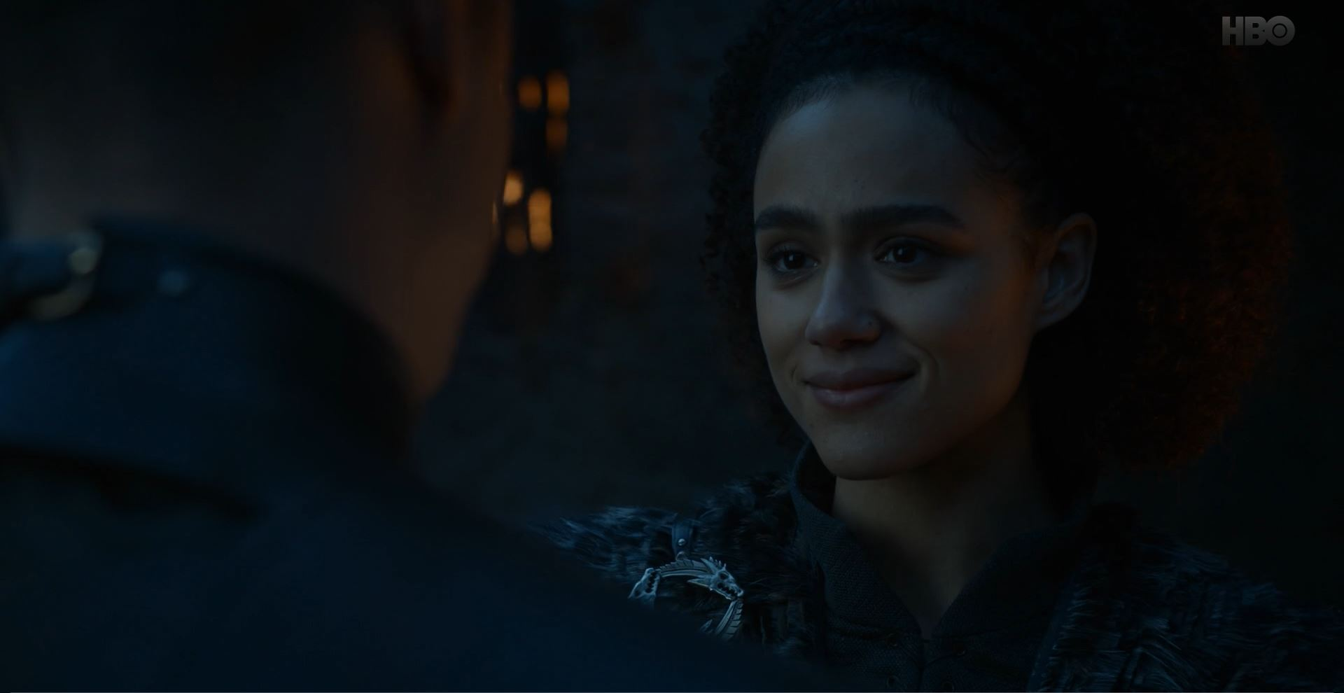 Game of Thrones S08E02 A Knight of the Seven Kingdoms Review - Missandei smiles at Grey Worm