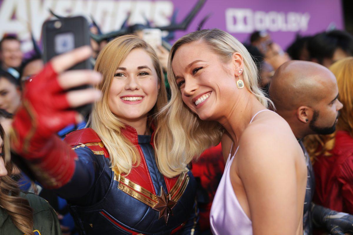 Brie Larson at Avengers Endgame premiere
