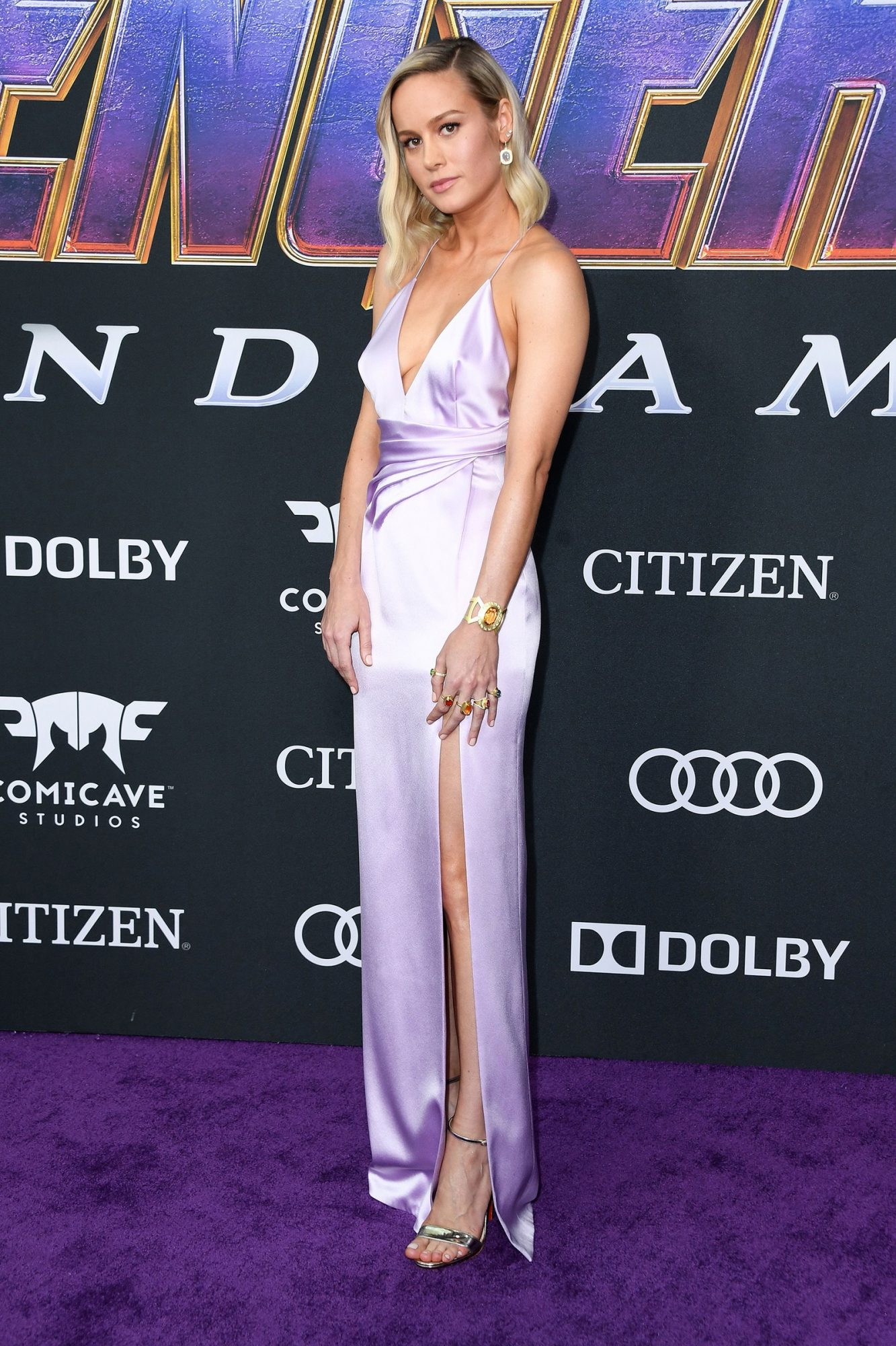 Brie Larson in hot dress at Avengers Endgame premiere