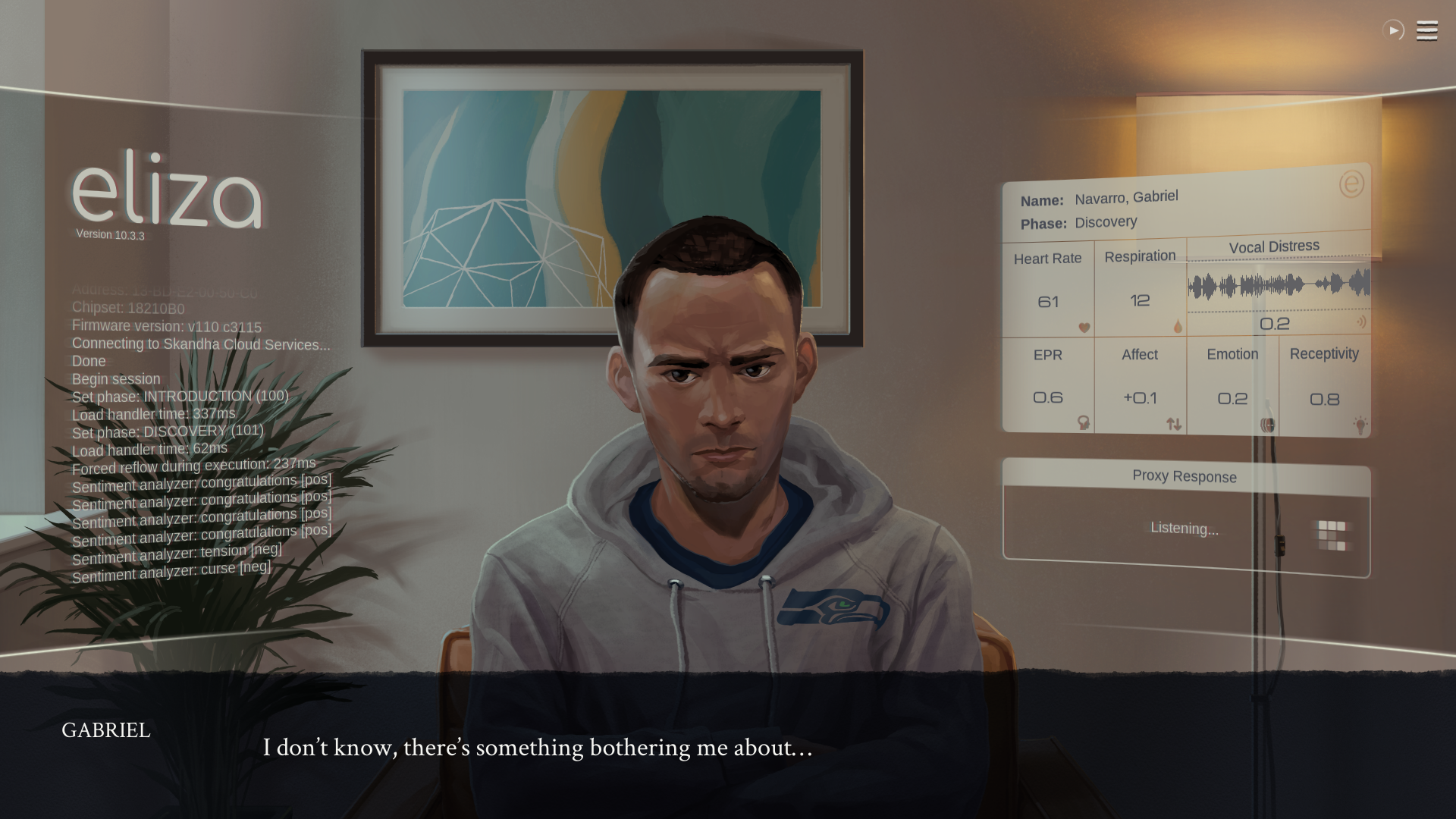 Eliza Review 7 - a visual novel from Zachtronics