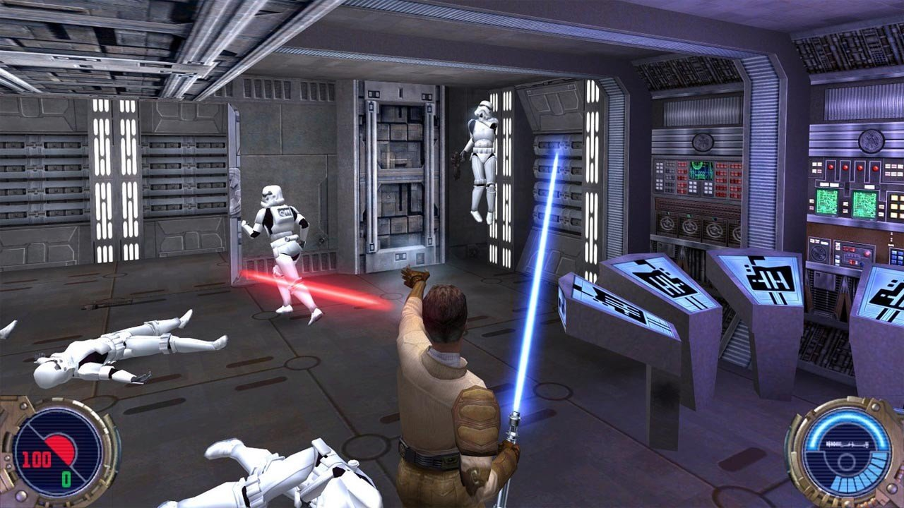Star Wars Jedi Knight 2 Jedi Outcast use the force Kyle