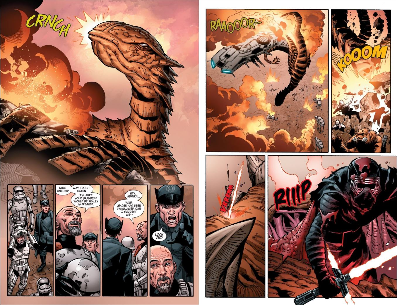 Star Wars Kylo Ren issue 1 Kylo Ren kills the god