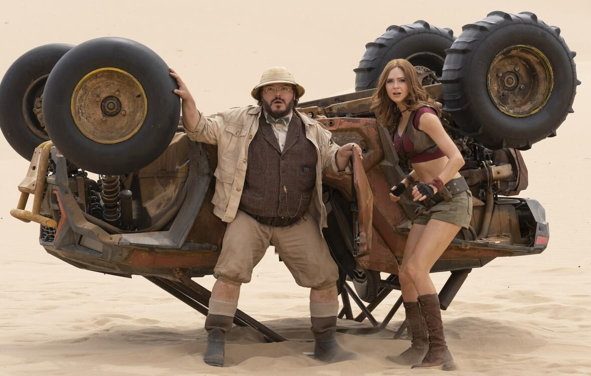 Jumanji The Next Level - Jack Black and Karen Gillan
