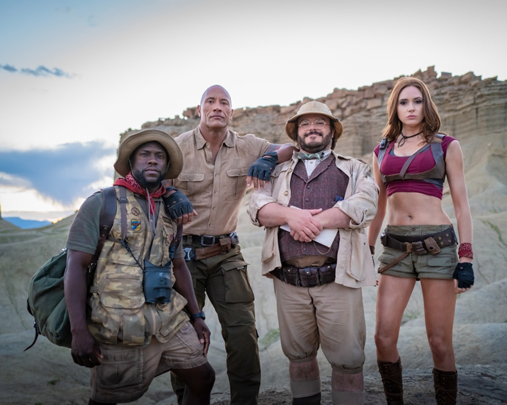 Jumanji The Next Level with Kevin Hart Dwayne Johnson Jack Black and Karen Gillan