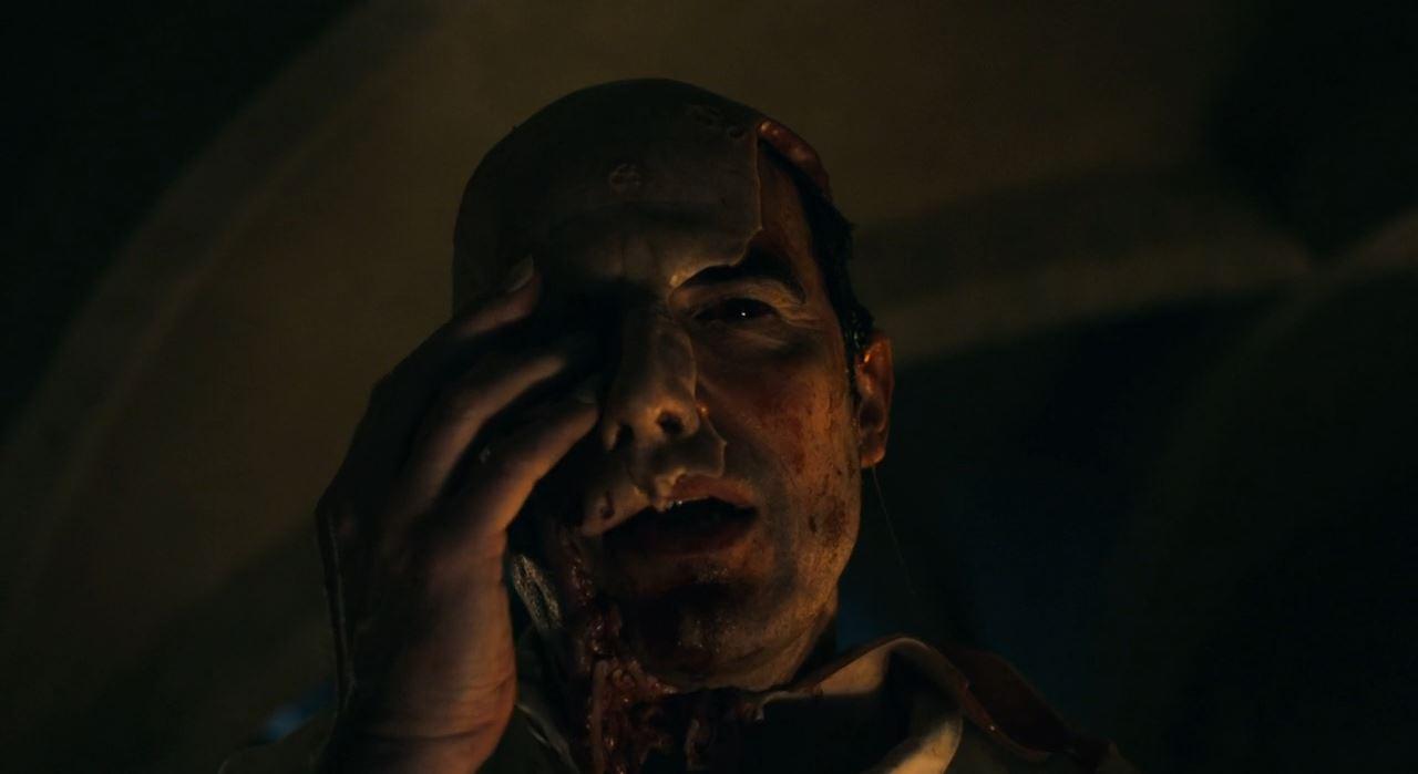 BBC Dracula - Count Dracula wearing a Jonathan mask