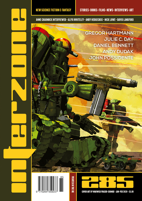 Interzone 285 cover by Warwick Fraser-Coombe