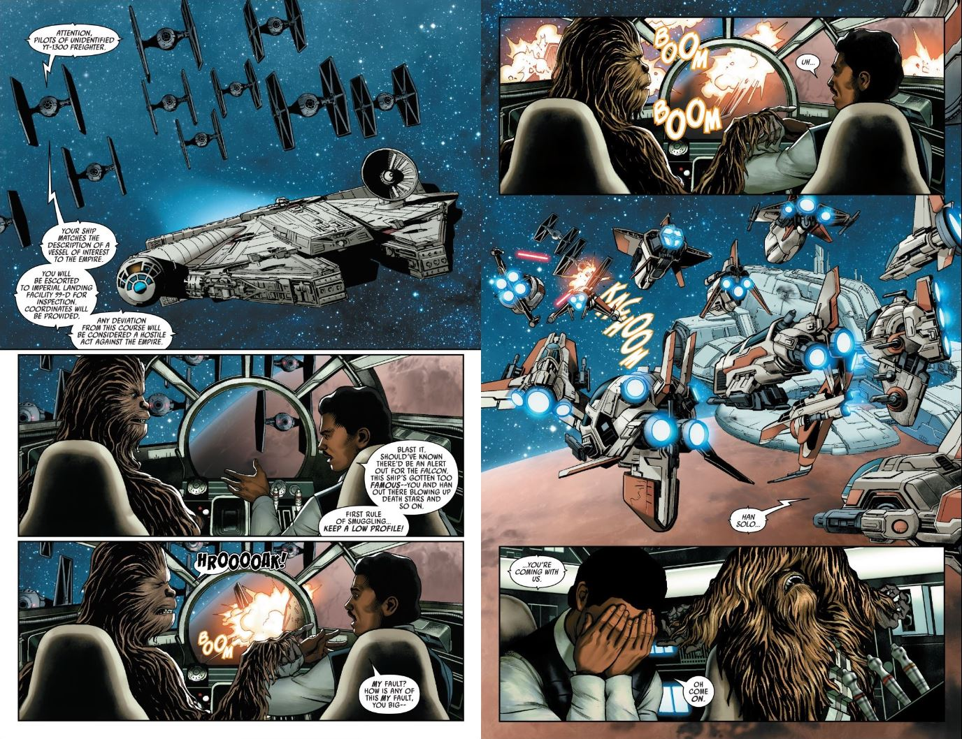 Star Wars (2020) #2 Lando and Chewbacca arrive at Tatooine