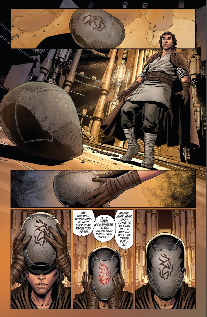 Star Wars The Rise of Kylo Ren Issue 2 Ben finds the mask of Ren