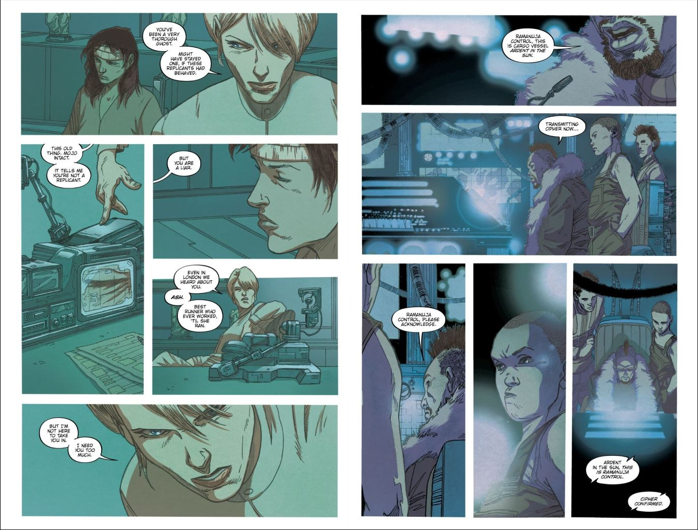 Blade Runner 2019 # 6 Review - Hythe interrogates Ash and Cleo arrives at Ramanuja