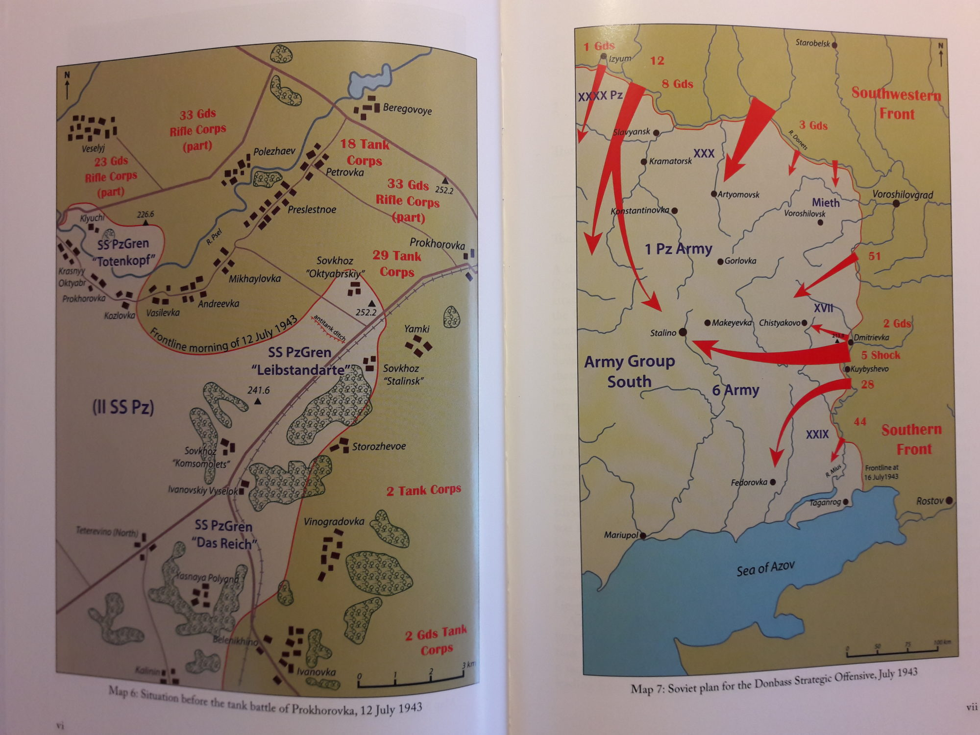 Kursk 1943 Roman Toeppel - map of battle of Prokhorovka