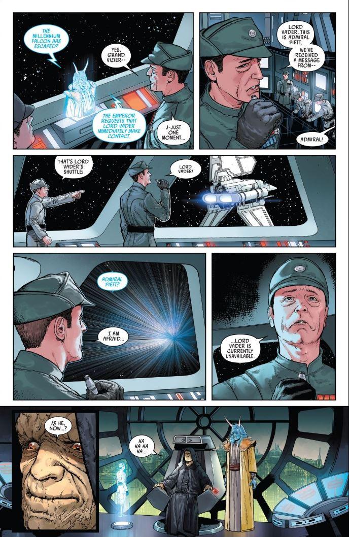 Star Wars Darth Vader (2020) - Emperor Palpatine wants to contact Vader