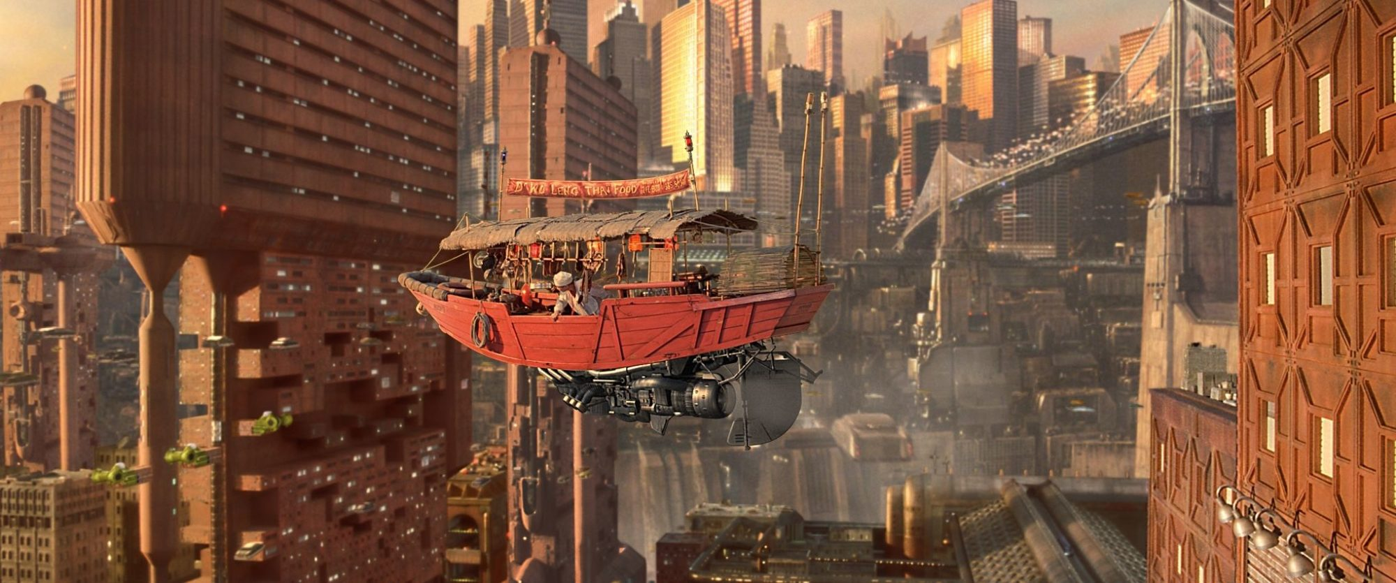 The Fifth Element bright cityscape