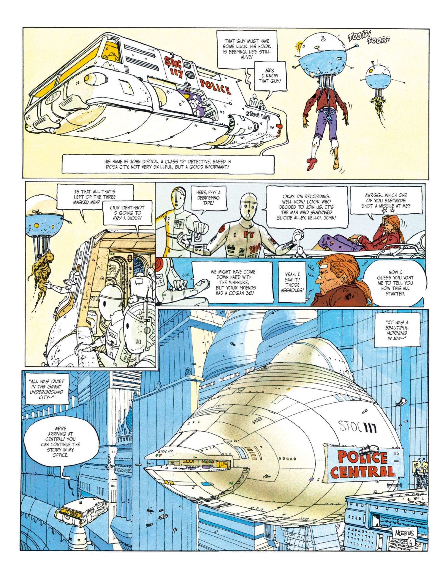 The Incal - John DiFool captured by the police