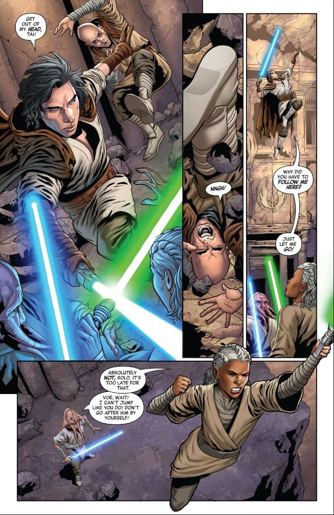 The Rise of Kylo Ren Issue 3 - Ben Solo fights Voe Hennix and Tai