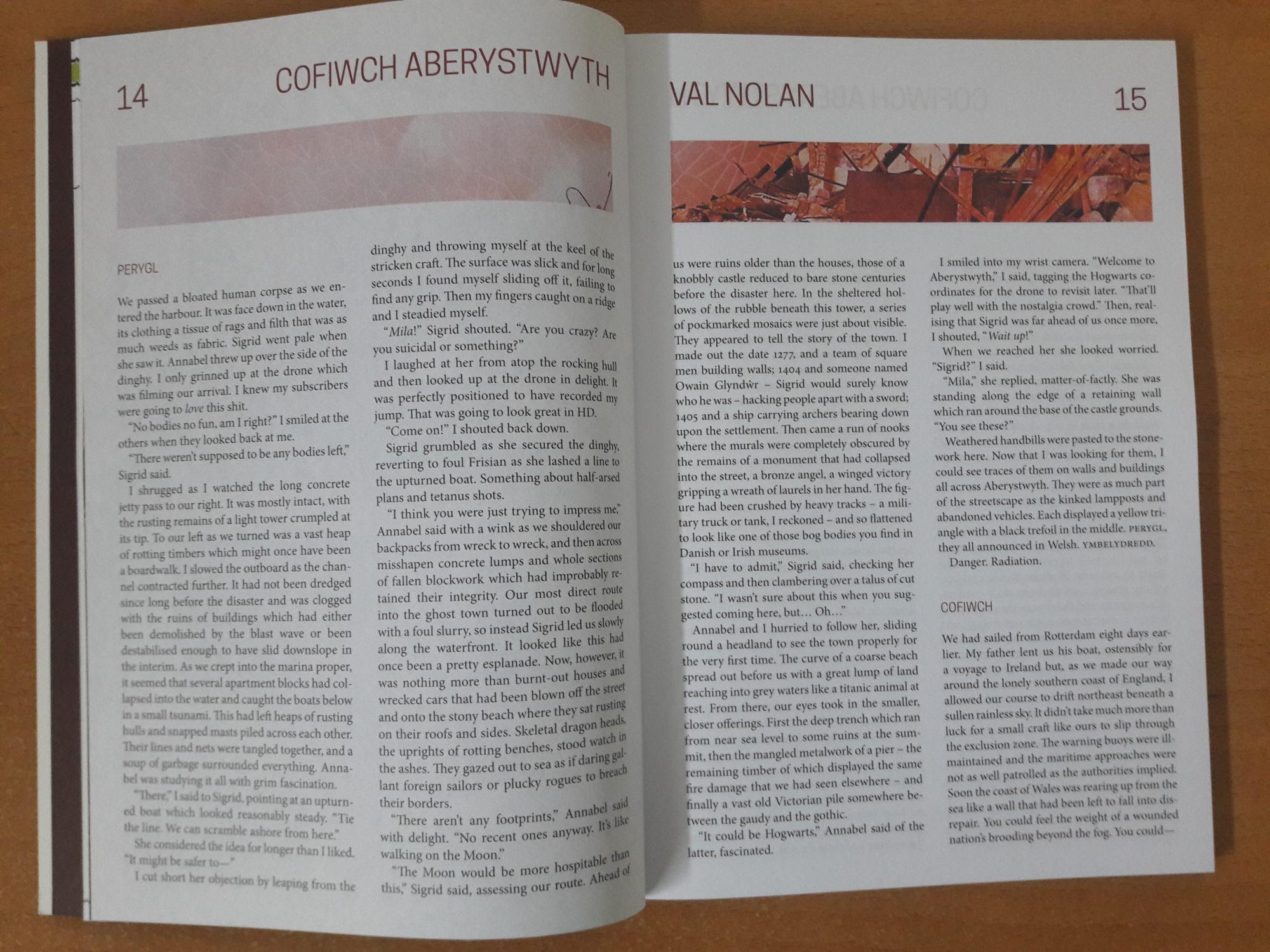 Interzone issue # 286 Review Cofiwch Aberystwyth by Val Nolan