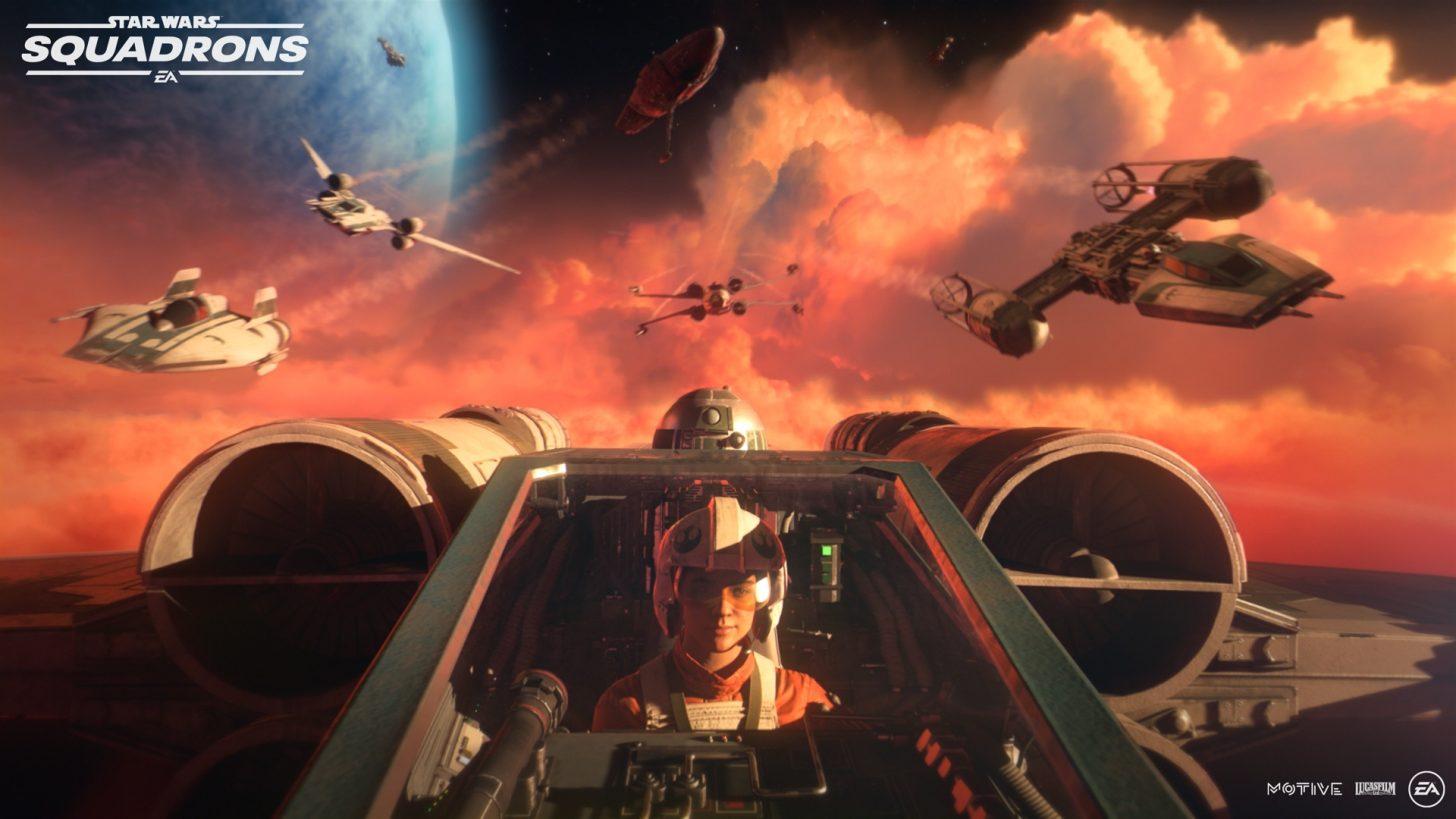 Star Wars Squadrons X-wing pilot
