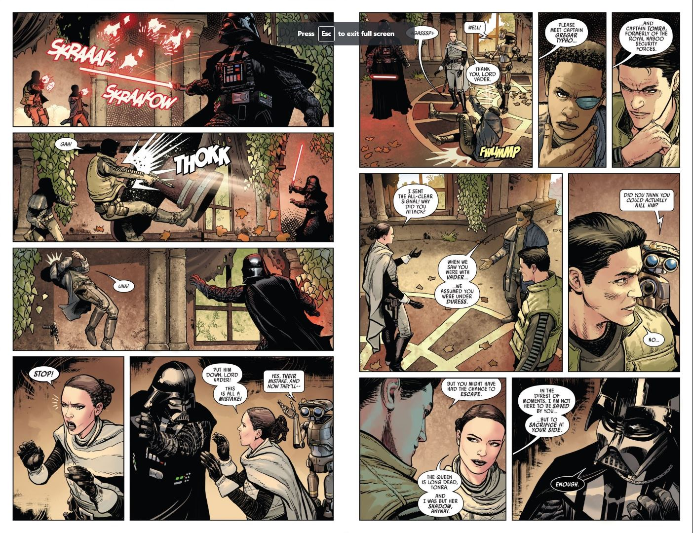 Issue #3 Star Wars Darth Vader Captain Typho and Tonra