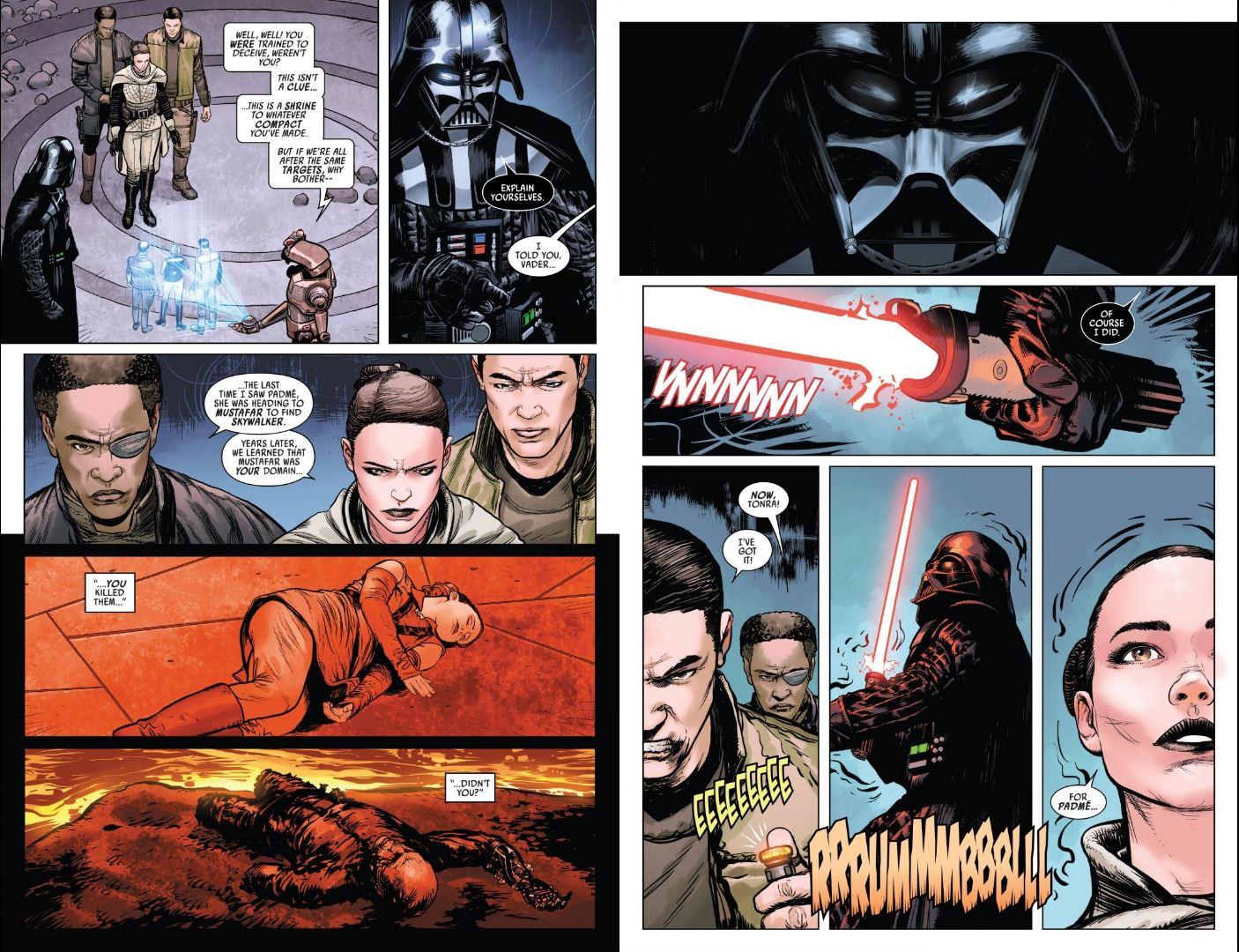 Issue #3 Star Wars Darth Vader Sabe confronts Vader