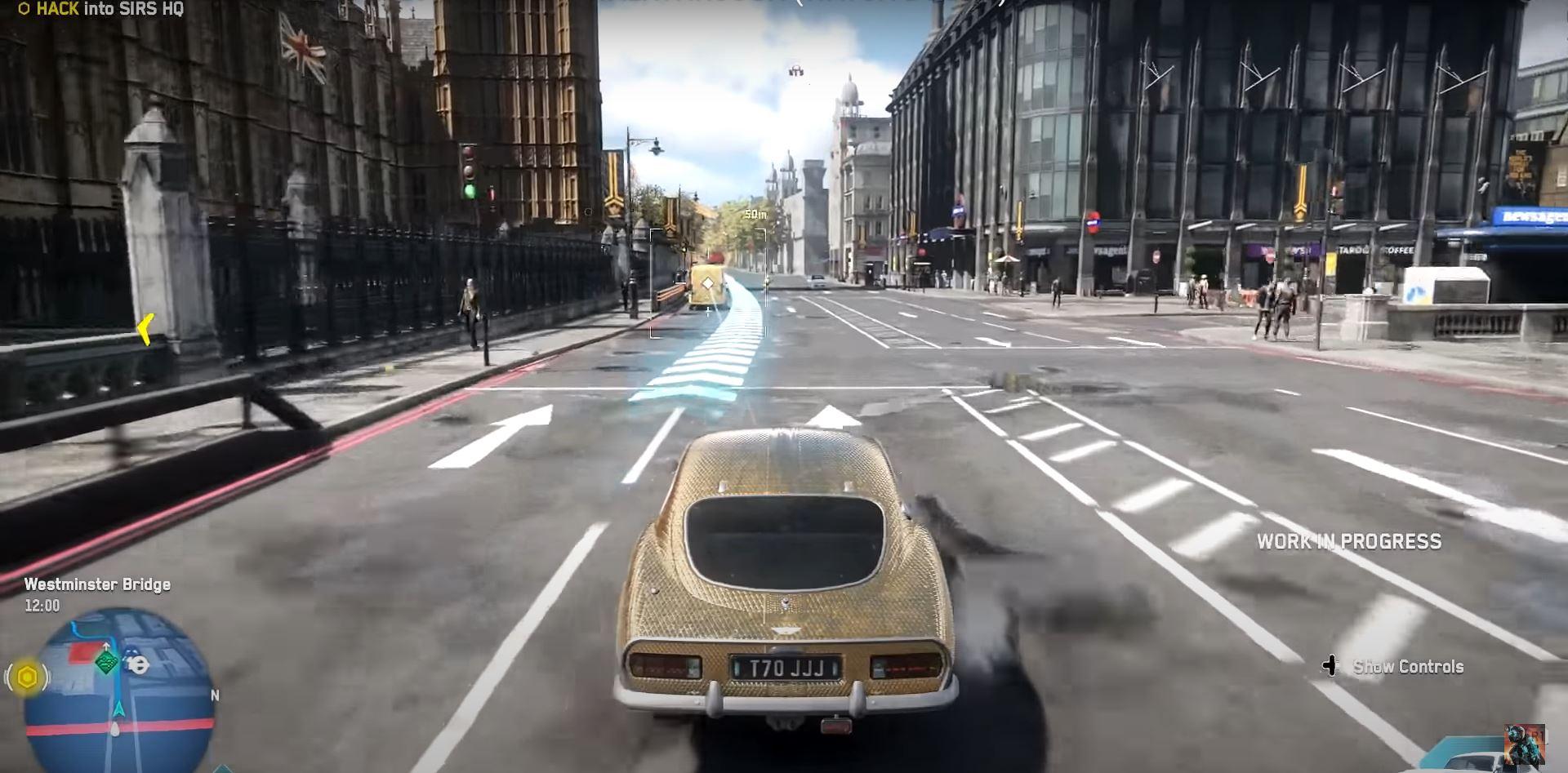 Watch Dogs Legions driving through London