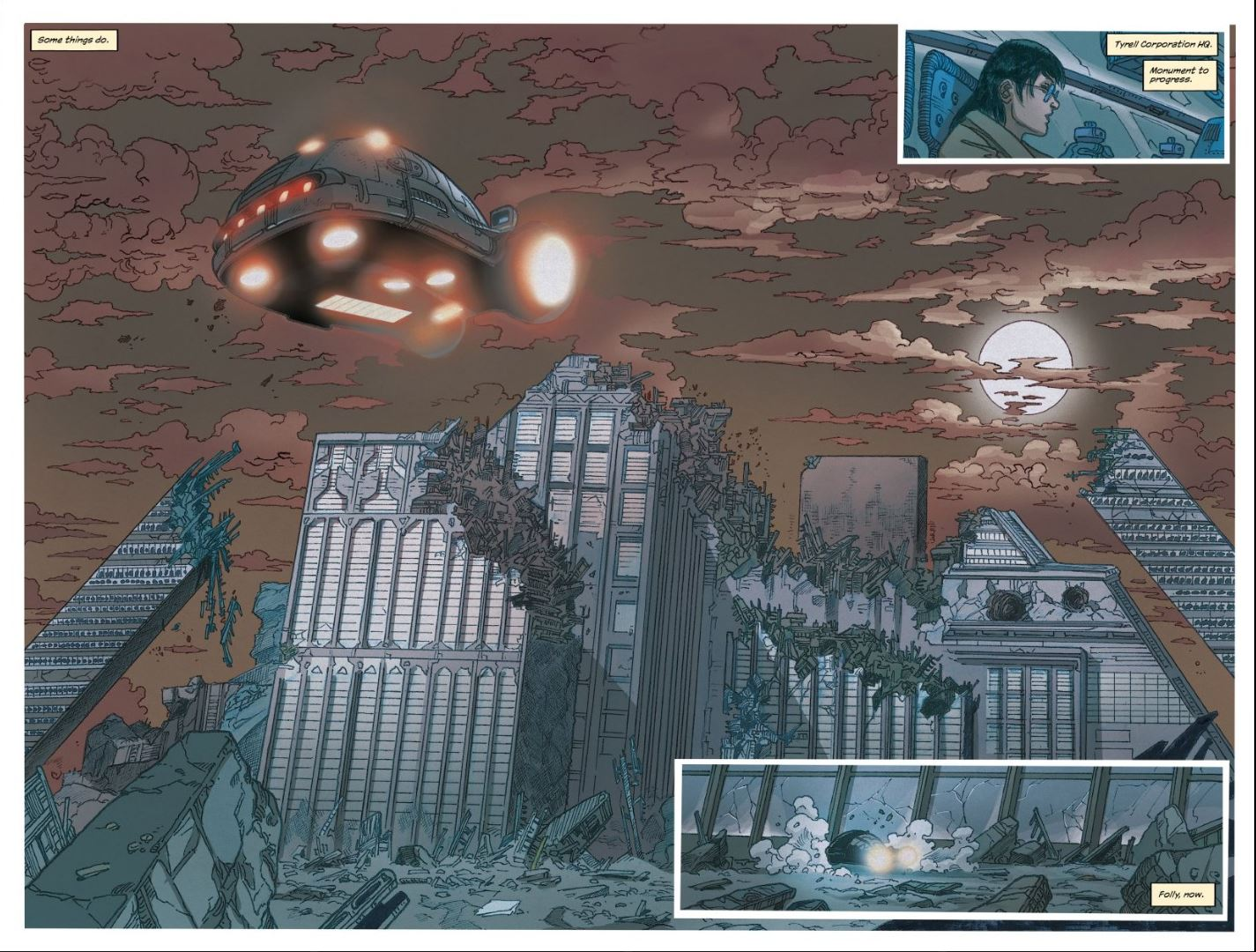 Blade Runner issue #9 Tyrell Pyramids remains