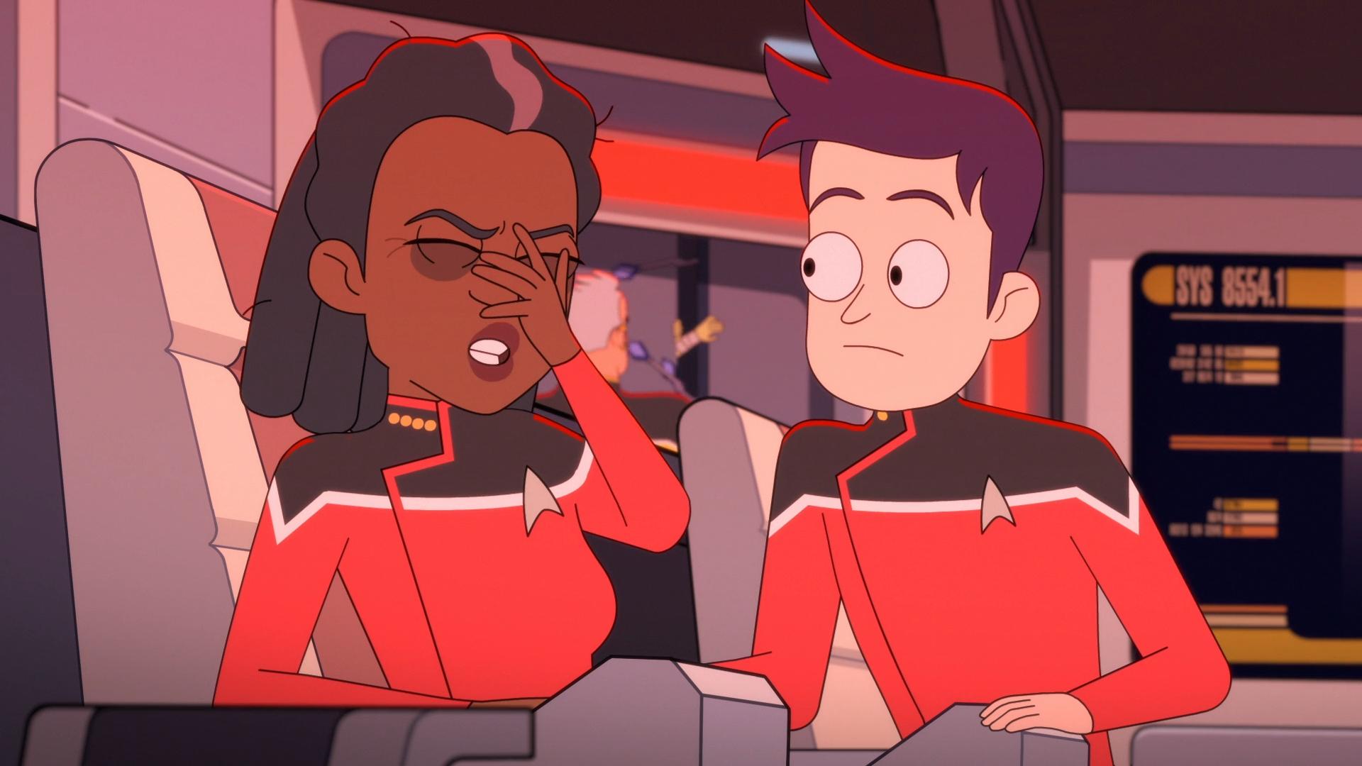 Star Trek Lower Decks Captain Freeman and Boimler