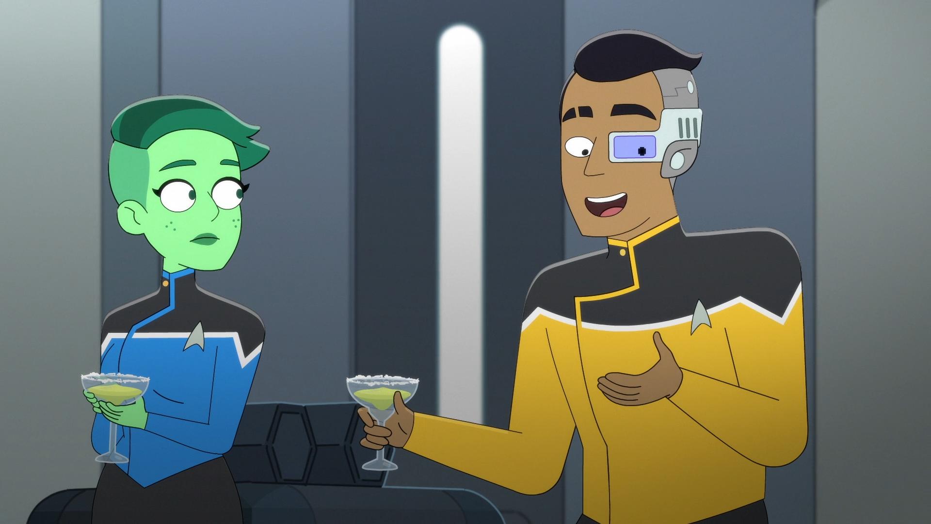 Star Trek Lower Decks ensign Tendi and Rutherford
